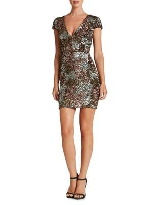 Victoria Sequined Mini Dress by Dress The Population