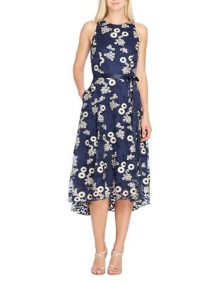 Hi-Lo Floral-Embroidered Midi Dress by Tahari Arthur S. Levine