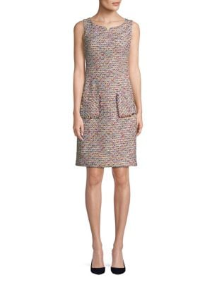 Sleeveless Tweed Dress by Karl Lagerfeld Paris