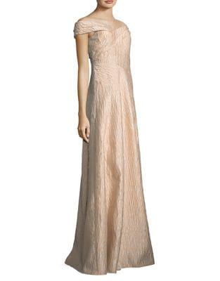 Off-the-Shoulder Floor-Length Dress by Aidan Aidan Mattox