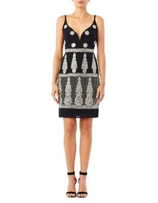 Enchanted Embroidered Mini Dress by Nicole Miller New York