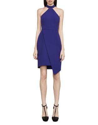 Makenna Asymmetrical Halter Dress by BCBGMAXAZRIA