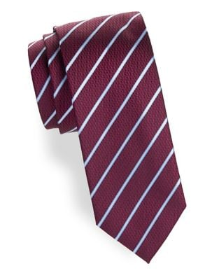 Striped Silk Tie @...