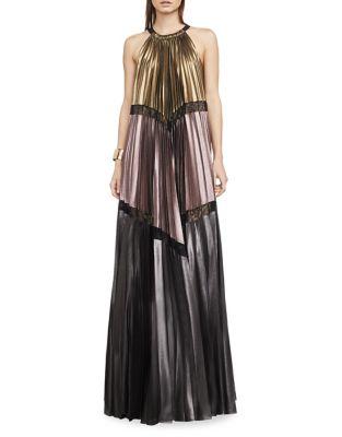 Alyson Metallic Colorblocked Maxi Dress 500087793760