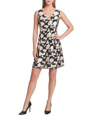 Floral Fit-&-Flare Dress by Tommy Hilfiger