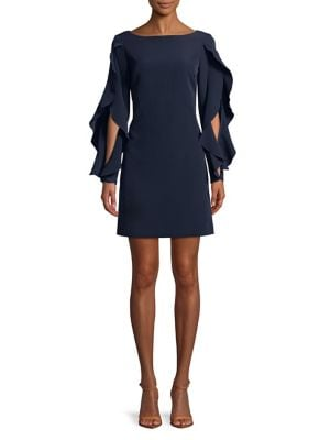 Frilled Shift Dress by Vince Camuto
