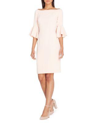 Bell-Sleeve Sheath Dress by Tahari Arthur S. Levine