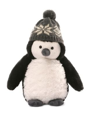 Puffer Penguin with Cap Soft Toy