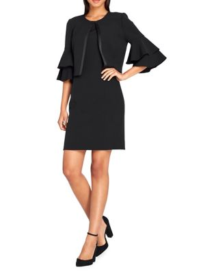 Two-Piece Ruffle-Sleeve Dress Suit by Tahari Arthur S. Levine
