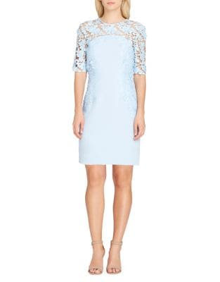Lace Overlay Sheath Dress by Tahari Arthur S. Levine