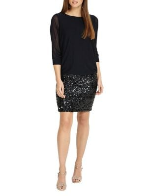 Geonna Sequin Knitted Dress by Phase Eight