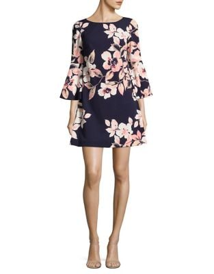 Bell Sleeve Floral Shift Dress by Eliza J