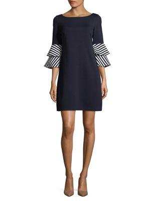 Bell-Sleeve Shift Dress by Eliza J