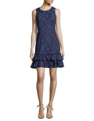 Floral Lace Fit-&-Flare Dress by Eliza J