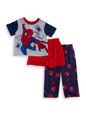 Little Boys Spiderman ThreePiece Pajama Set