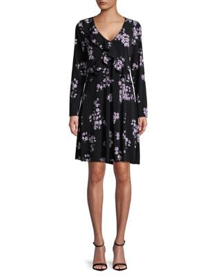 Floral-Print Ruffle Dress by Ivanka Trump