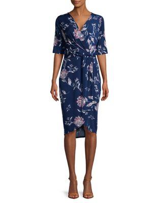 Floral-Print Hi-Lo Wrap Dress by Ivanka Trump
