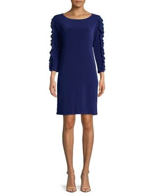 Ruffle-Sleeve Shift Dress by Ivanka Trump
