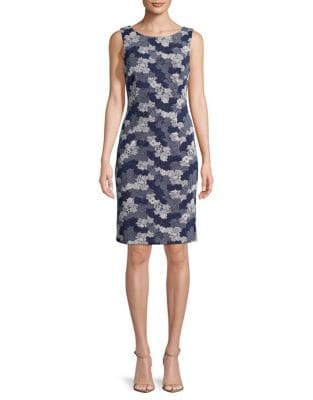 Sleeveless Lace Sheath Dress by Ivanka Trump