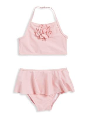 Baby Girls TwoPiece Tankini Top and Skirted Bottom Set