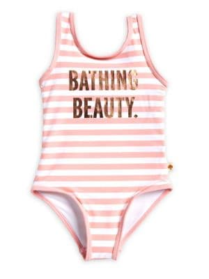 Baby Girls Bathing Beauty OnePiece Striped Swimsuit