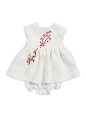 Baby Girls TwoPiece Cherry Blossom Dress and Bloomers Set