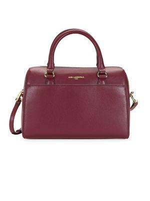 Hermine Split Leather Satchel 500087802681