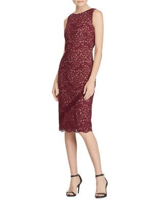 Lace Sleeveless Knee-Length Dress by Lauren Ralph Lauren