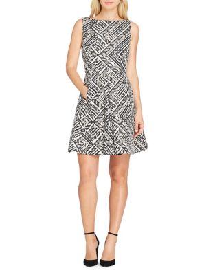 Petite Metallic Jacquard Fit-&-Flare Dress by Tahari Arthur S. Levine