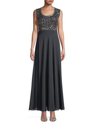 Seqiun-Embellished Gown by J Kara