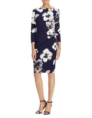 Petite Floral Print Jersey Dress by Lauren Ralph Lauren