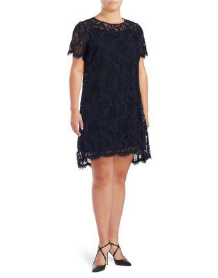 Plus Lace Short Sleeve Dress by Tahari Arthur S. Levine