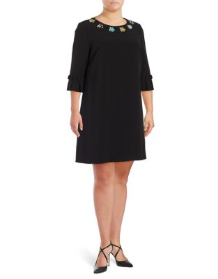 Plus Bell Sleeve Shift Dress by Tahari Arthur S. Levine
