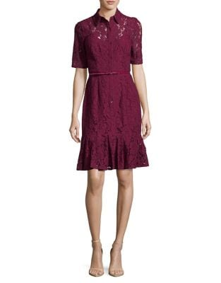 Cynthia Lace Shirtdress by Adrianna Papell