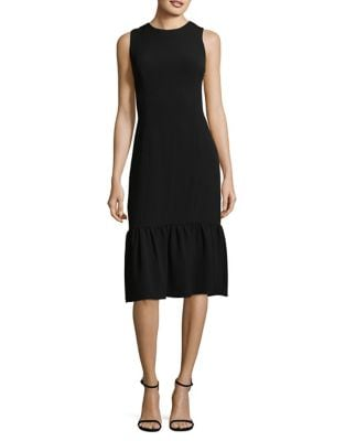 Textured Crepe Drop-Waist Dress by Adrianna Papell