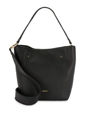 Whip-Stitch Leather Hobo...