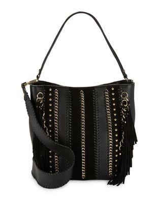 Studded Leather Hobo Bag 500087809655