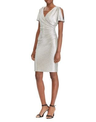 Metallic Sheath Dress by Tahari Arthur S. Levine