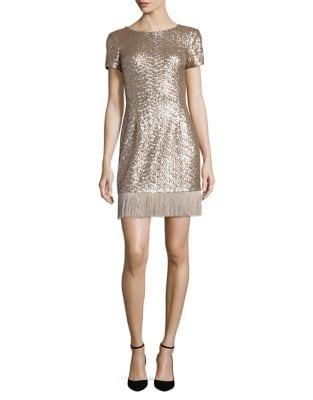 Fringed Sequin Dress by Aidan Aidan Mattox