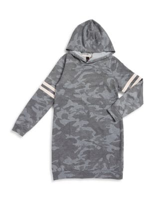 Girl's Camouflage Hooded...