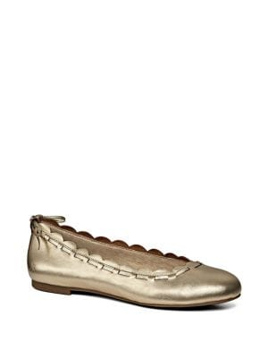Lucie Scalloped Leather Flats by Jack Rogers
