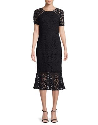 Floral Lace Sheath Dress by Shoshanna