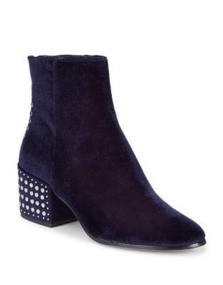Mazey Studded Velvet Booties by DV by Dolce Vita
