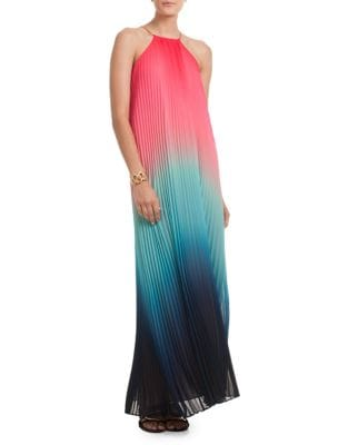 Ombre Halterneck Maxi Dress 500087813958