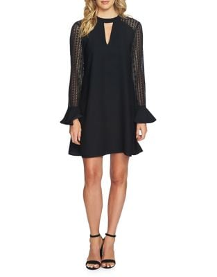 Rachel Lace Flare-Sleeve Shift Dress by Cynthia Steffe