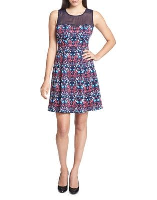 Floral Fit-&-Flare Dress by Guess