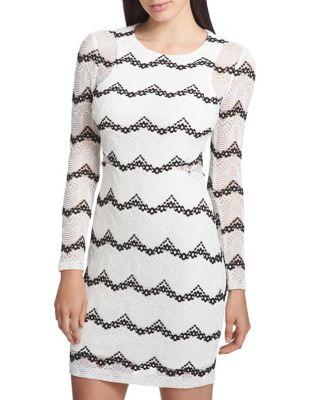 Stripe Bodycon Dress by Guess