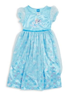 Little Girls and Girls Elsa Nightgown