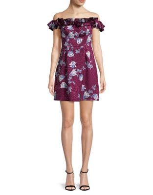 Floral-Print Mini Dress by Wayf