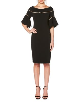 Embellished Knee-Length Dress by Laundry by Shelli Segal